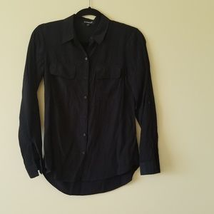 Express black two pocket button down sz xs